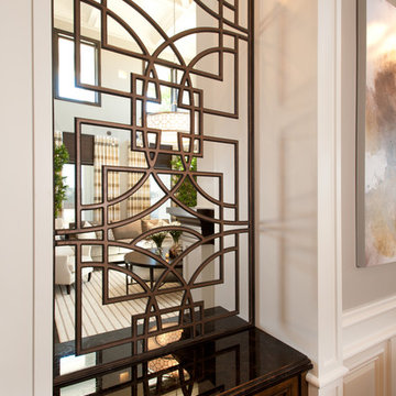 Iron Work, hand forged custom Iron stairway for Luxury Home in So. Cal
