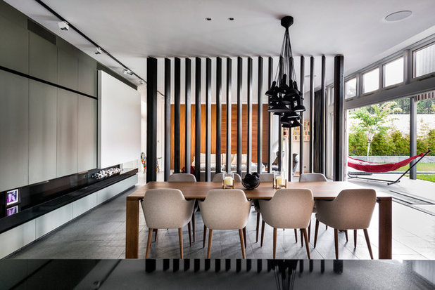 Contemporary Dining Room by DTDA pty ltd