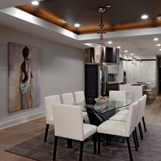 Contemporary Dining Room by Davida's Kitchen & Tiles
