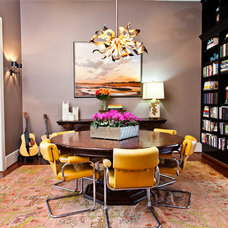 Eclectic Dining Room by Cortney Bishop Design
