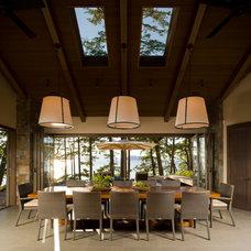 Contemporary Dining Room by Christian Grevstad Inc.