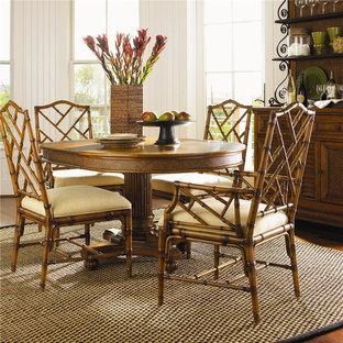 Island Estate Customizable Ceylon Side Chair With Rattan Frame