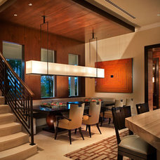 Contemporary Dining Room by b+g design inc.
