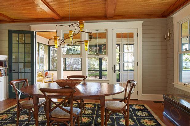 Traditional Dining Room by David Heide Design Studio
