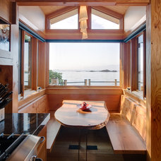 Rustic Dining Room by Don Larkin, Architect, AIA, PLLC
