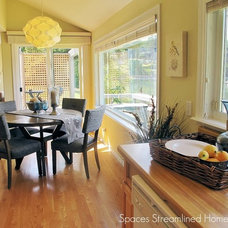 Traditional Dining Room by Spaces Streamlined Staging Organization Redesign