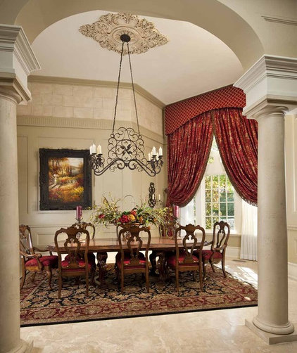 Mediterranean Dining Room by Wesley-Wayne Interiors, LLC