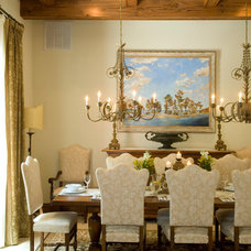 Mediterranean Dining Room by Benson & Associates, Interior Design