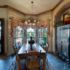 Mediterranean Dining Room by Michael Garabedian