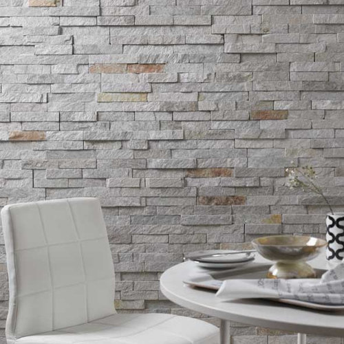 Split face mosaic tiles for Tiled chimney breast images