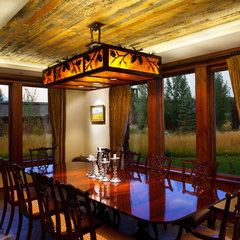 traditional dining room by Teton Heritage Builders