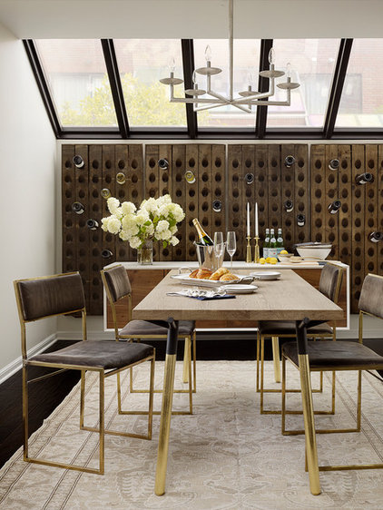 Transitional Dining Room by Catherine Kwong Design