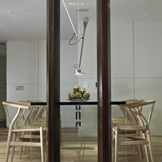 Contemporary Dining Room by poggi design