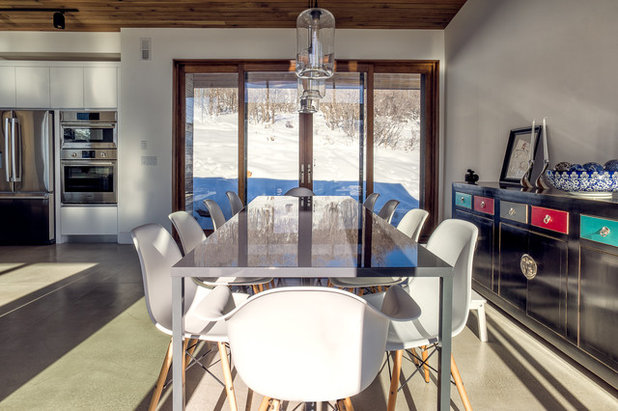 Contemporary Dining Room by Park City Design Build