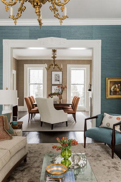 Transitional Dining Room by Terrat Elms Interior Design
