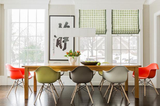 トランジショナル ダイニング by Elms Interior Design