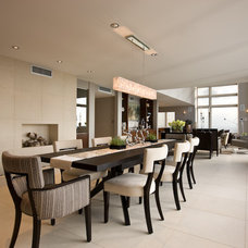 Contemporary Dining Room by jamesthomas, LLC
