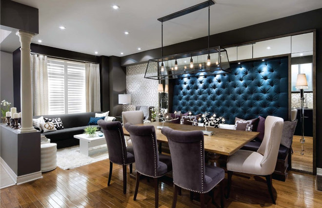 Contemporary Dining Room by Woodcraft Furniture