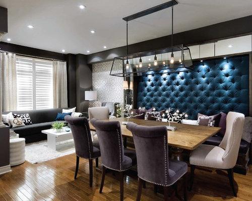 Trendy Dark Wood Floor Dining Room Photo In Toronto