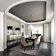 transitional dining room by Jane Lockhart Interior Design