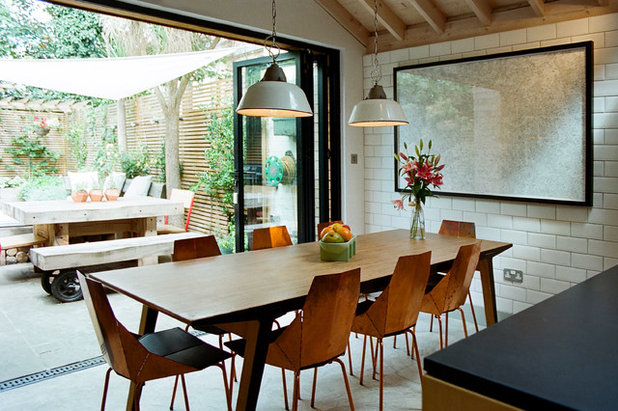 Contemporary Dining Room by Tom Kaneko