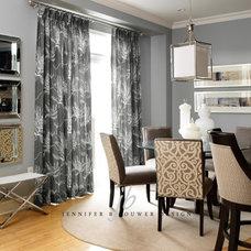 Contemporary Dining Room by Jennifer Brouwer (Jennifer Brouwer Design Inc)