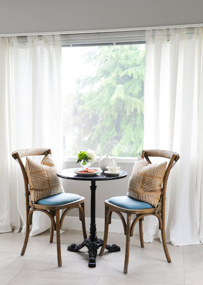 Transitional Dining Room by PlaidFox