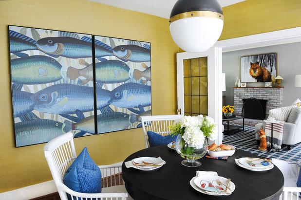 Beach Style Dining Room by PlaidFox
