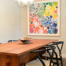 Contemporary Dining Room by Walls by Design Inc
