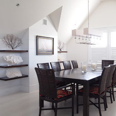 Beach Style Dining Room by Chip Webster Architecture