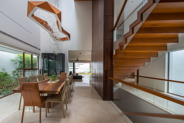 Modern Dining Room by Ricken Desai Photography
