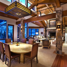 traditional dining room by Charles Cunniffe Architects Aspen