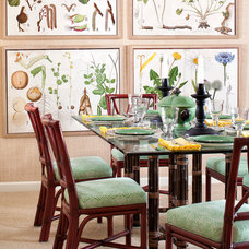 Tropical Dining Room by Kathy Abbott Interiors, Inc.