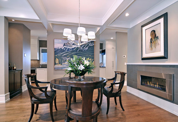Transitional Dining Room by Bruce Johnson & Associates Interior Design