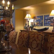 Mediterranean Dining Room by Joni Koenig Interiors