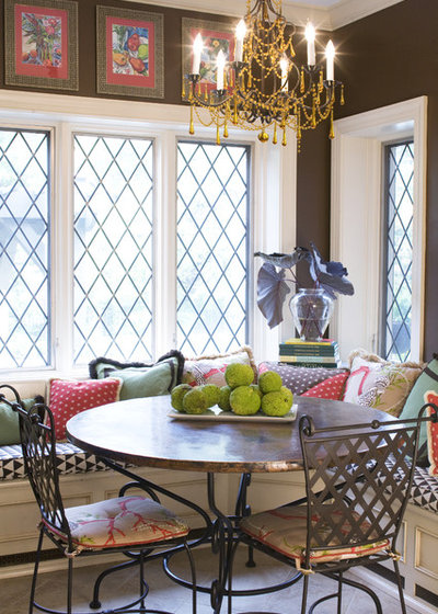 American Traditional Dining Room by Joni Spear Interior Design