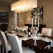 Transitional Dining Room by Decor by Christine Interior Decorating & Design