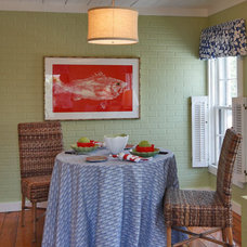 Eclectic Dining Room by Joy Sawyer Interior Design