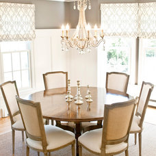 Transitional Dining Room by Delicious Designs Home