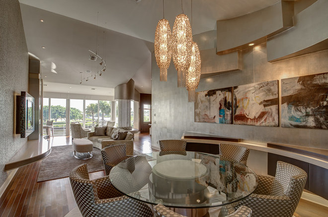 Modern Dining Room by Michael Laurenzano Photography