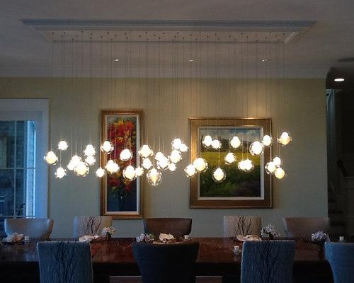 Kadur custom blown glass chandelier modern glass lighting - Lampadari sala pranzo ...