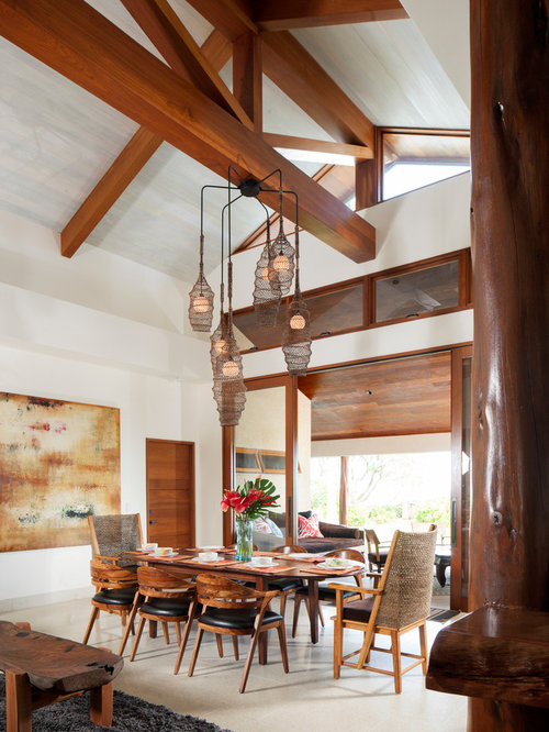 Tropical dining room table home design photos decor ideas for Tropical dining room