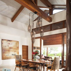 Beach Style Dining Room by jamie jackson design