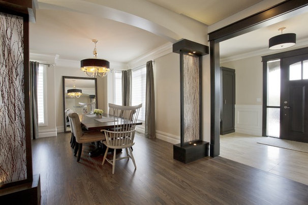 Transitional Dining Room by A Collaborative Design Group