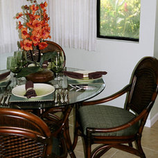 Tropical Dining Room by Design Savvy Maui, ASID