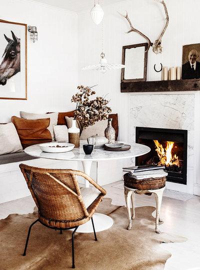 Shabby-chic Style Dining Room by Kara Rosenlund