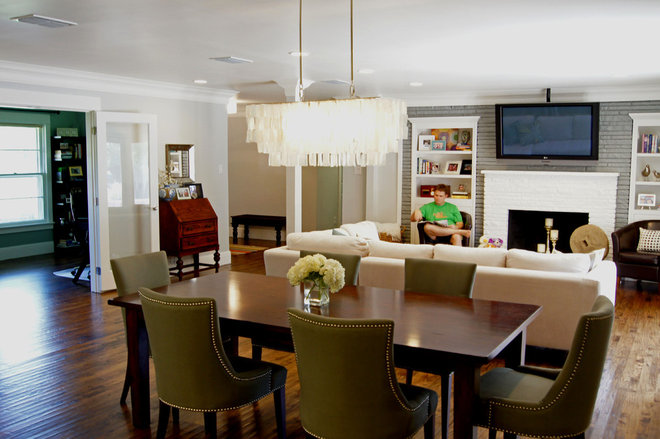 transitional dining room by Kara Weik