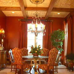 mediterranean dining room by KARLA TRINCANELLO-CID - INTERIOR DECISIONS, INC.