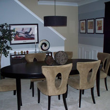 Modern Dining Room by Karrie Marchbanks of LifeStyle Interiors