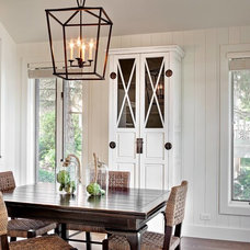 Transitional Dining Room by Marcel Page Photography